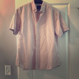Denim & Flower size L pink shirt